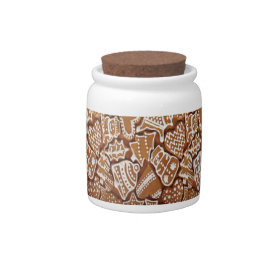 Yummy Christmas Holiday Gingerbread Cookies Candy Jar