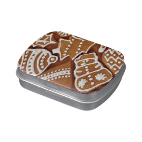 Yummy Christmas Holiday Gingerbread Cookies Jelly Belly Candy Tin
