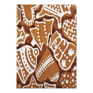 Yummy Christmas Holiday Gingerbread Cookies Card