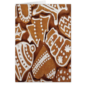 Yummy Christmas Holiday Gingerbread Cookies Greeting Cards