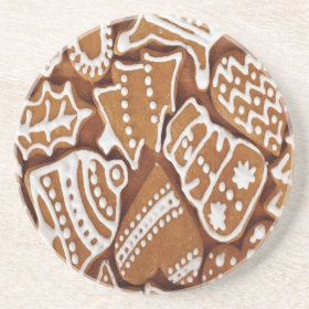 Yummy Christmas Holiday Gingerbread Cookies Drink Coasters