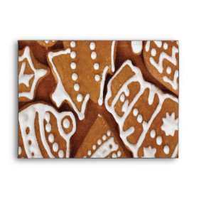 Yummy Christmas Holiday Gingerbread Cookies Envelopes