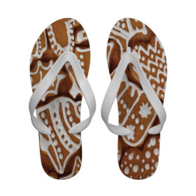 Yummy Christmas Holiday Gingerbread Cookies Sandals