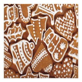 Yummy Christmas Holiday Gingerbread Cookies Invites