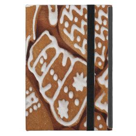 Yummy Christmas Holiday Gingerbread Cookies iPad Mini Covers