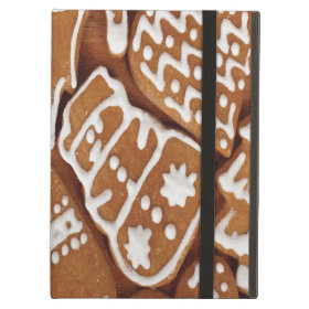 Yummy Christmas Holiday Gingerbread Cookies iPad Folio Case