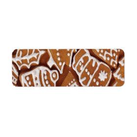 Yummy Christmas Holiday Gingerbread Cookies Custom Return Address Labels