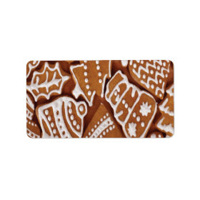 Yummy Christmas Holiday Gingerbread Cookies Personalized Address Label