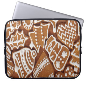 Yummy Christmas Holiday Gingerbread Cookies Laptop Sleeve