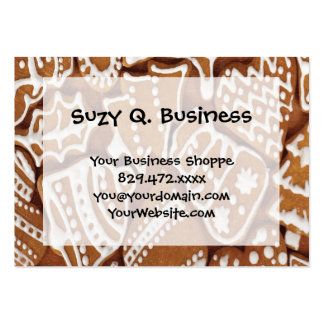 Yummy Christmas Holiday Gingerbread Cookies Large Business Card