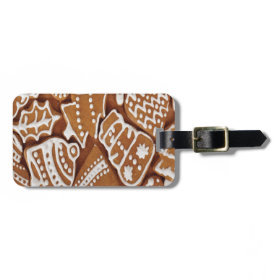 Yummy Christmas Holiday Gingerbread Cookies Luggage Tag