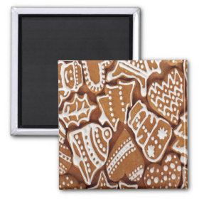 Yummy Christmas Holiday Gingerbread Cookies Refrigerator Magnet