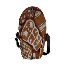 Yummy Christmas Holiday Gingerbread Cookies Courier Bags
