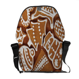 Yummy Christmas Holiday Gingerbread Cookies Messenger Bags