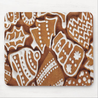 Yummy Christmas Holiday Gingerbread Cookies Mouse Pad