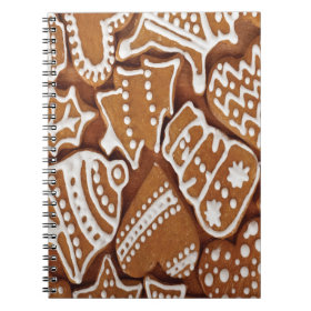 Yummy Christmas Holiday Gingerbread Cookies Notebooks