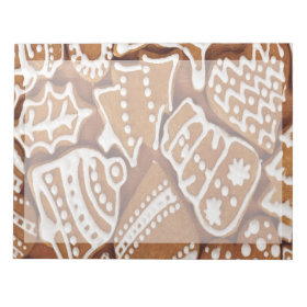 Yummy Christmas Holiday Gingerbread Cookies Memo Note Pads