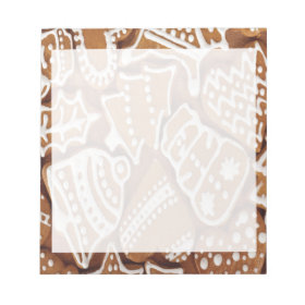Yummy Christmas Holiday Gingerbread Cookies Memo Note Pad