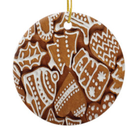 Yummy Christmas Holiday Gingerbread Cookies Ornament