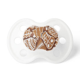 Yummy Christmas Holiday Gingerbread Cookies Pacifier