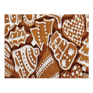 Yummy Christmas Holiday Gingerbread Cookies Postcard
