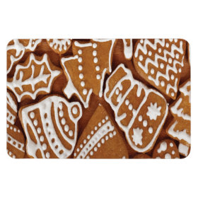 Yummy Christmas Holiday Gingerbread Cookies Vinyl Magnets