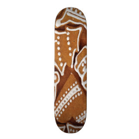 Yummy Christmas Holiday Gingerbread Cookies Skate Board Deck