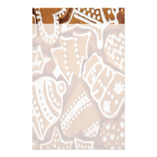 Yummy Christmas Holiday Gingerbread Cookies Stationery Paper