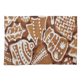 Yummy Christmas Holiday Gingerbread Cookies Towel