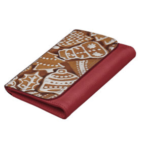 Yummy Christmas Holiday Gingerbread Cookies Wallet
