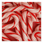 Yummy Christmas Holiday Peppermint Candy Canes Posters