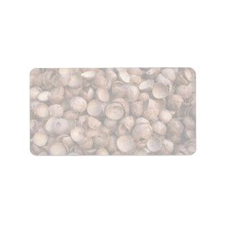 Yummy Coconut shells Address Label