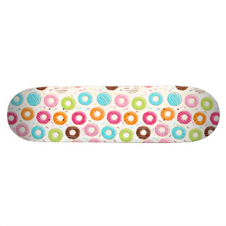 Yummy colorful sprinkles donuts toppings pattern skateboard deck