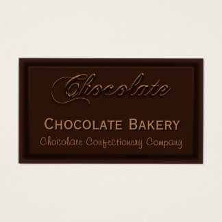 Yummy Creamy Chocolate Bakery Business Cards