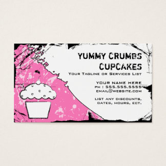 yummy crumbs cupcakes business card