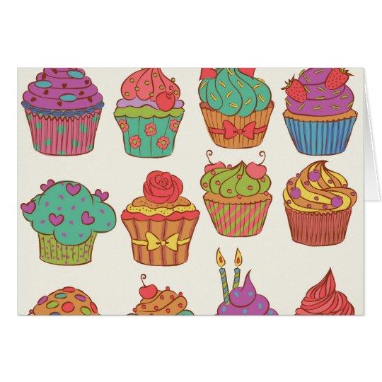 Yummy cumpcakes set card