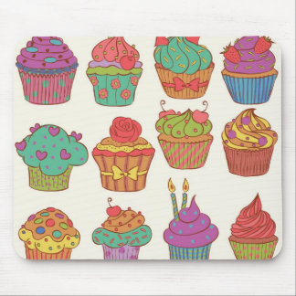 Yummy cumpcakes set mouse pad