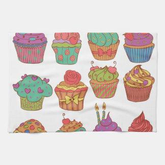 Yummy cumpcakes set towels