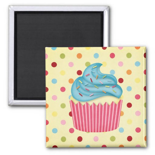 yummy cupcake 2 inch square magnet