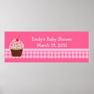 Yummy Cupcake Baby Shower /  Birthday Banner Poster