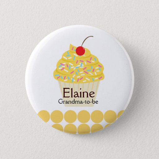 Yummy Cupcake NAME TAG Personalized Button