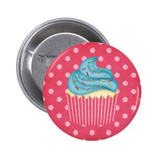 yummy cupcake pinback button