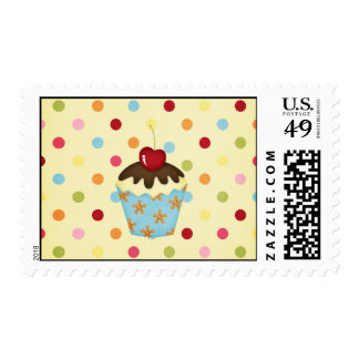 yummy cupcake postage stamps