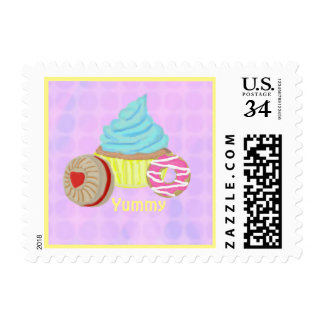 Yummy cupcake stamps