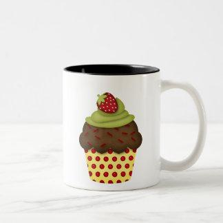 yummy cupcake Two-Tone coffee mug