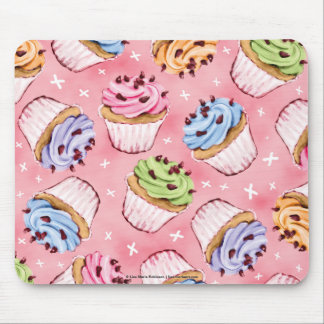 Yummy Cupcakes and Kisses Mousepads