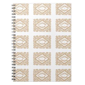 Yummy custard cream biscuits spiral notebook
