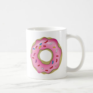 Yummy Donut with Icing and Sprinkles Coffee Mug