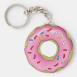 Yummy Donut with Icing and Sprinkles Keychain