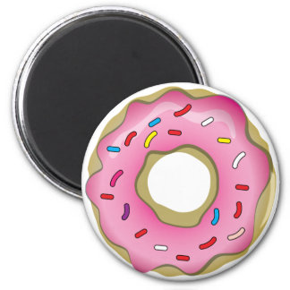 Yummy Donut with Icing and Sprinkles Magnets